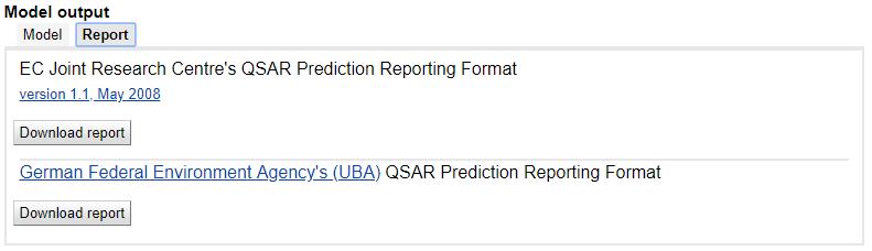 Prediction reports