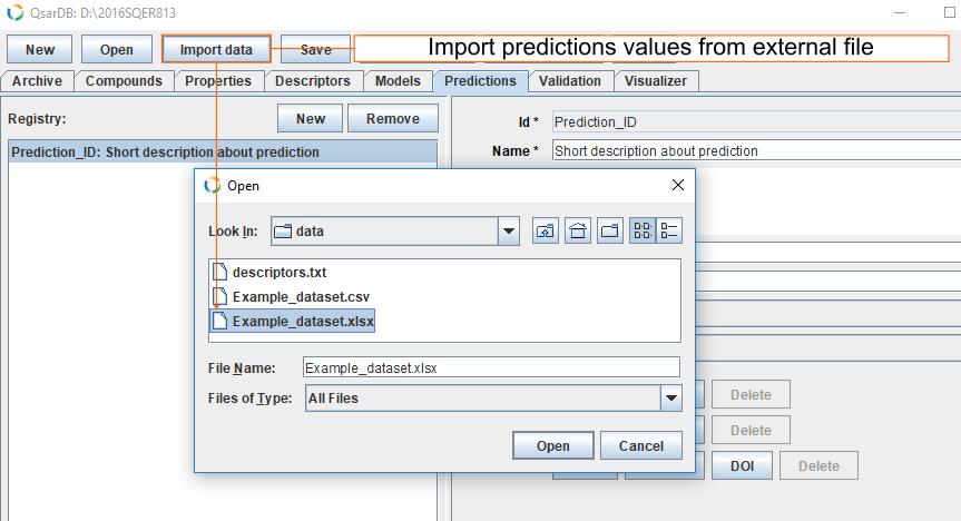 Import predictions