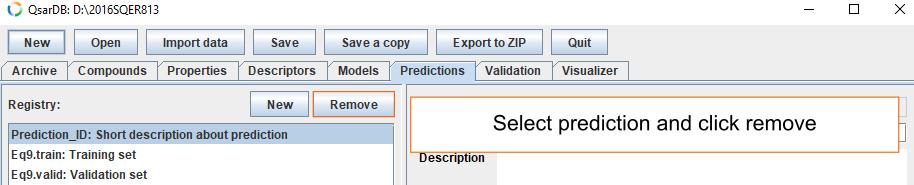 Delete predictions