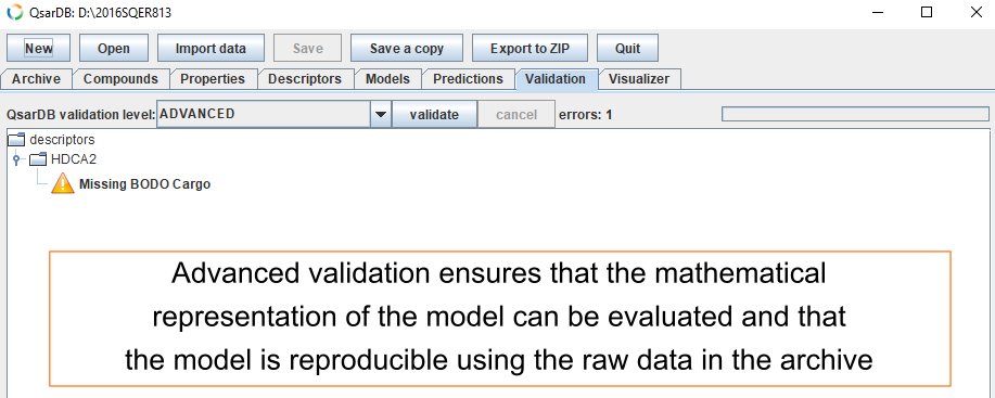 Advanced validation