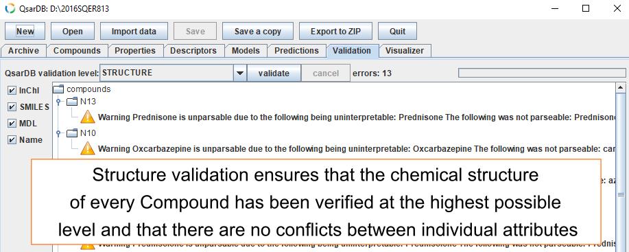 Structure validation