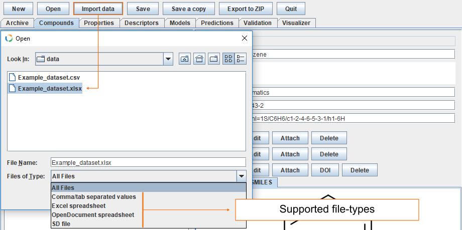 Import data file