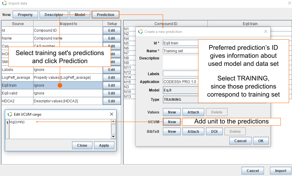 Import training set predictions